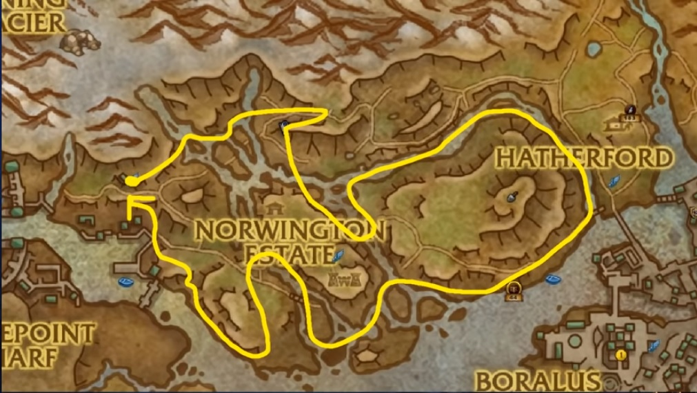 Mining and Herb Gold Farming Route in BFA - World of Warcraft