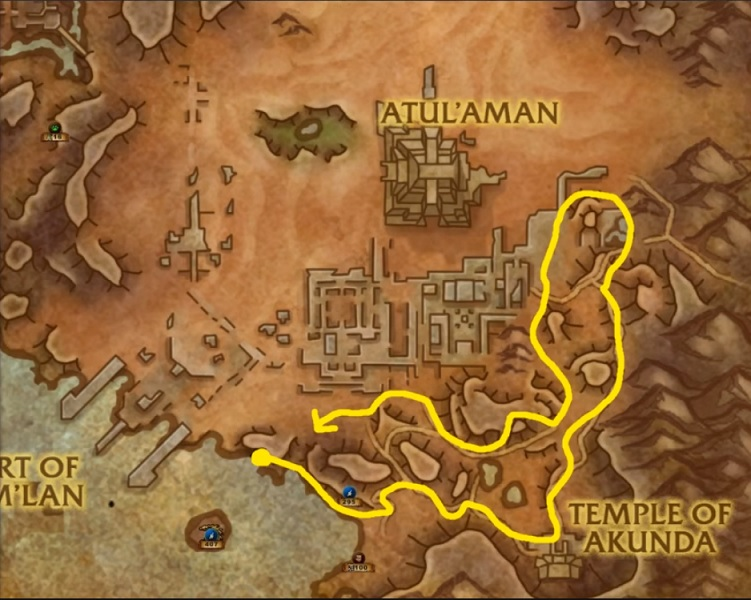 Anchor Weed and Akunda's Bite Farming Route - World of Warcraft